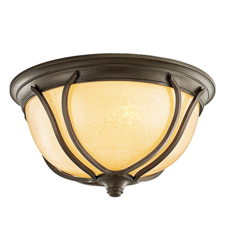 Kichler Lighting Pasadena 1 Light Outdoor Flush Mount in Olde Bronze 49144OZ