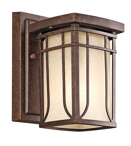 Kichler Lighting Riverbank 1 Light Outdoor Wall Lantern in Aged Bronze 49146AGZ