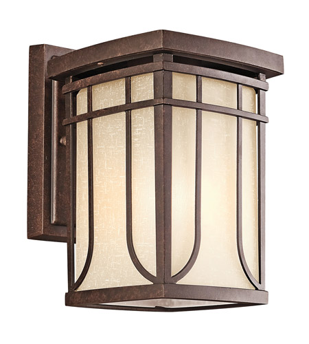 Kichler Lighting Riverbank 1 Light Outdoor Wall Lantern in Aged Bronze 49147AGZ photo
