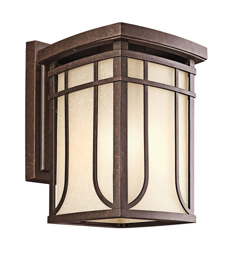 Kichler Lighting Riverbank 1 Light Outdoor Wall Lantern in Aged Bronze 49148AGZ