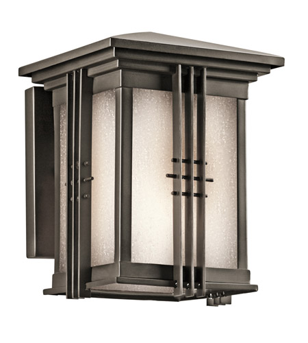 Kichler 49157OZ Portman Square 1 Light 8 inch Olde Bronze Outdoor Wall Lantern in Standard photo