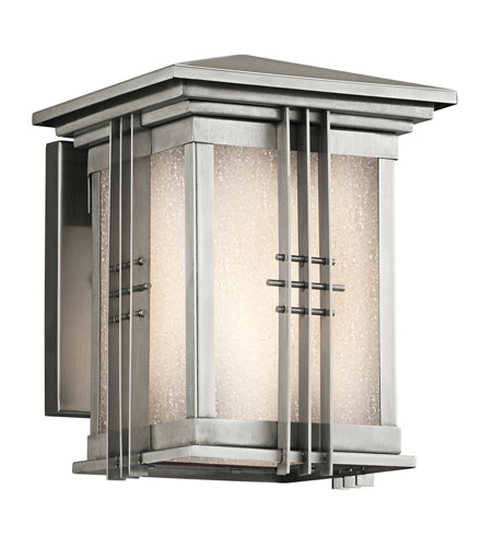 Kichler Lighting Portman Square 1 Light Outdoor Wall Lantern in Stainless Steel 49157SS photo