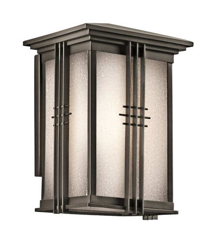 Kichler 49158OZ Portman Square 1 Light 11 inch Olde Bronze Outdoor Wall Lantern in Standard photo