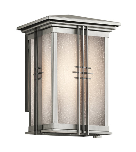 Kichler Lighting Portman Square 1 Light Outdoor Wall Lantern in Stainless Steel 49158SS