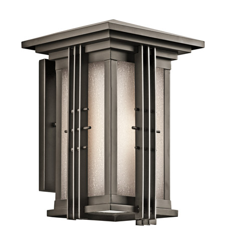 Kichler 49159OZ Portman Square 1 Light 14 inch Olde Bronze Outdoor Wall Lantern in Standard photo