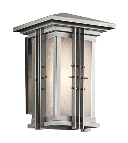 Kichler Lighting Portman Square 1 Light Outdoor Wall Lantern in Stainless Steel 49159SS