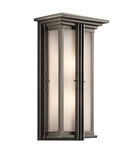 Kichler Lighting Portman Square 2 Light Outdoor Wall Lantern in Olde Bronze 49160OZ photo