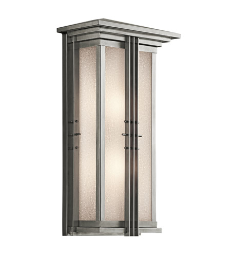 Kichler Lighting Portman Square 2 Light Outdoor Wall Lantern in Stainless Steel 49160SS