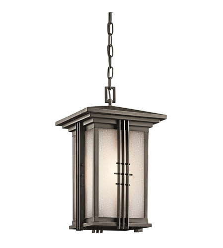 Kichler Lighting Portman Square 1 Light Outdoor Pendant in Olde Bronze 49161OZ