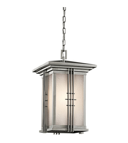 Kichler Lighting Portman Square 1 Light Outdoor Pendant in Stainless Steel 49161SS