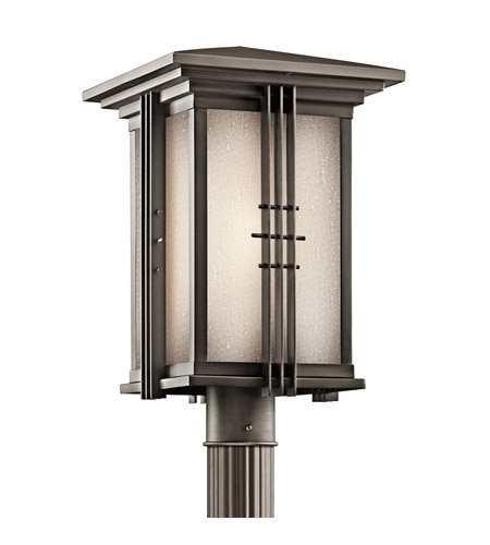 Kichler Lighting Portman Square 1 Light Outdoor Post Lantern in Olde Bronze 49163OZ photo