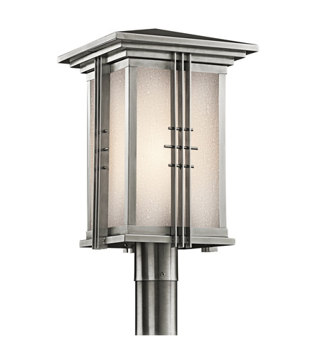 Kichler Lighting Portman Square 1 Light Outdoor Post Lantern in Stainless Steel 49163SS photo
