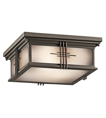 Kichler 49164oz Portman Square 2 Light 12 Inch Olde Bronze Outdoor Flush Mount