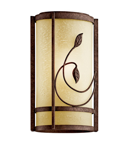 Kichler Lighting Lancaster Gardens 1 Light Fluorescent Outdoor Wall Lantern in Aged Bronze 49167AGZFL