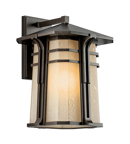 Kichler 49177OZFL North Creek 1 Light 18 inch Olde Bronze Fluorescent Outdoor Wall Lantern  photo