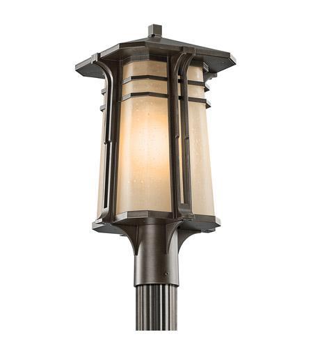 Kichler Lighting North Creek 1 Light Outdoor Post Lantern in Olde Bronze 49178OZ photo