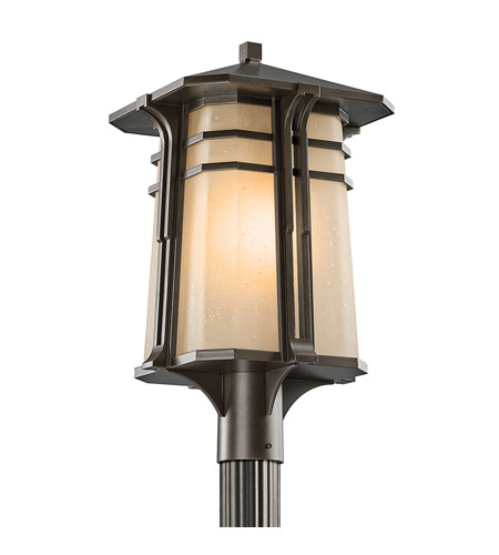 Kichler Lighting North Creek 1 Light Outdoor Post Lantern in Olde Bronze 49179OZ photo