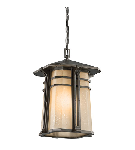 Kichler Lighting North Creek 1 Light Outdoor Pendant in Olde Bronze 49180OZ photo