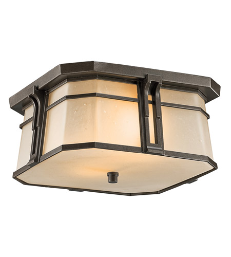 Kichler Lighting North Creek 2 Light Outdoor Flush Mount in Olde Bronze 49181OZ photo