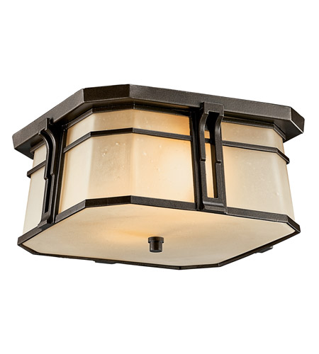 Kichler Lighting North Creek 2 Light Fluorescent Outdoor Ceiling in Olde Bronze 49181OZFL photo