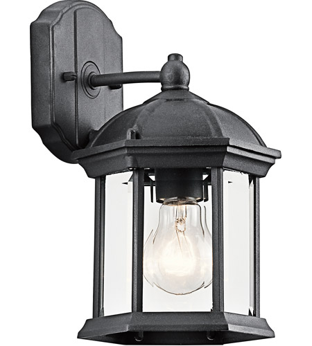 Kichler Lighting Barrie 1 Light Outdoor Wall Lantern in Black 49183BK