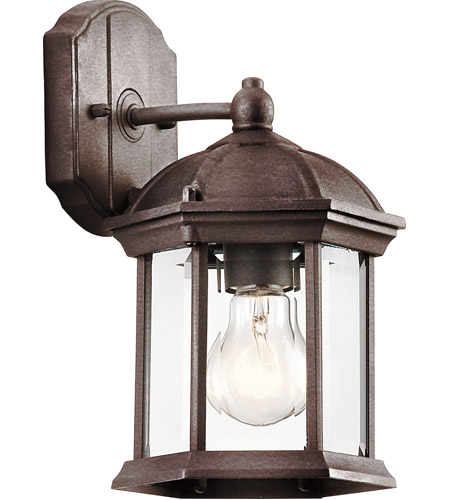 Kichler 49183TZ Barrie 1 Light 11 inch Tannery Bronze Outdoor Wall Lantern in Standard photo