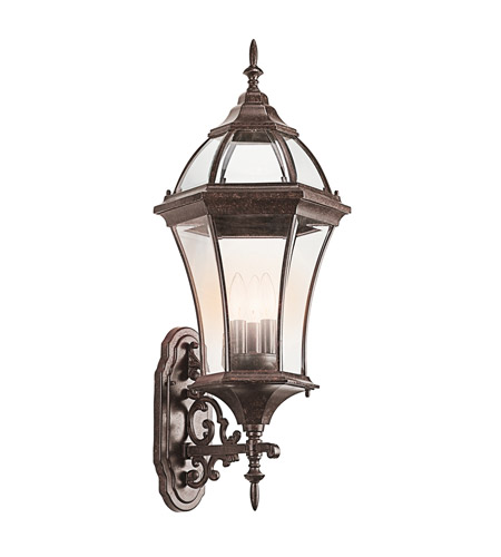 Kichler 49185TZ Townhouse 3 Light 32 inch Tannery Bronze Outdoor Wall Lantern photo