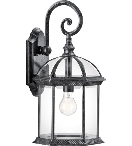 Kichler Lighting Barrie 1 Light Outdoor Wall Lantern in Black Material 49186BK