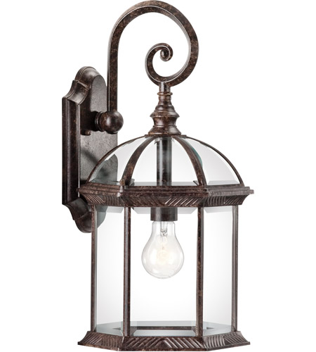 Kichler 49186TZ Barrie 1 Light 19 inch Tannery Bronze Outdoor Wall Lantern in Standard photo