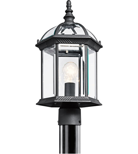 Kichler 49187BK Barrie 1 Light 18 inch Black Outdoor Post Lantern in Standard photo