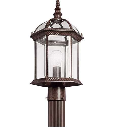 Kichler 49187TZ Barrie 1 Light 18 inch Tannery Bronze Outdoor Post Lantern in Standard photo
