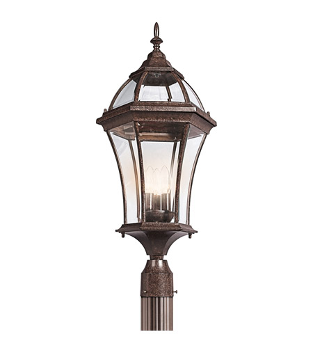 Kichler Lighting Townhouse 3 Light Outdoor Post Lantern in Tannery Bronze 49188TZ