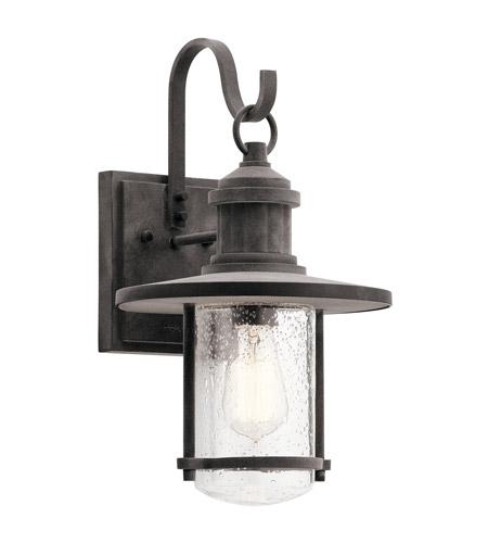 Kichler 49193wzc Riverwood 1 Light 17 Inch Weathered Zinc Outdoor Wall Light Large