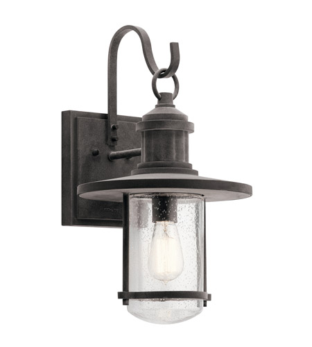 Kichler 49194wzc Riverwood 1 Light 20 Inch Weathered Zinc Outdoor Wall Light X Large