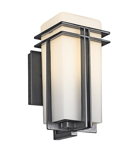 Kichler Lighting Tremillo 1 Light Outdoor Wall Lantern in Black (Painted) 49200BK