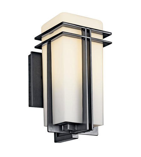 Kichler Lighting Tremillo 1 Light Fluorescent Outdoor Wall Lantern in Black (Painted) 49200BKFL