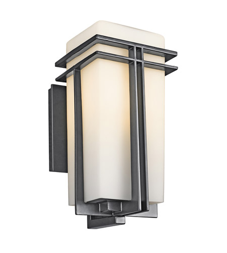 Kichler 49201BK Tremillo 1 Light 14 inch Black Outdoor Wall Lantern in Standard photo