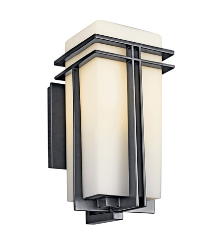 Kichler Lighting Tremillo 1 Light Fluorescent Outdoor Wall Lantern in Black 49201BKFL photo