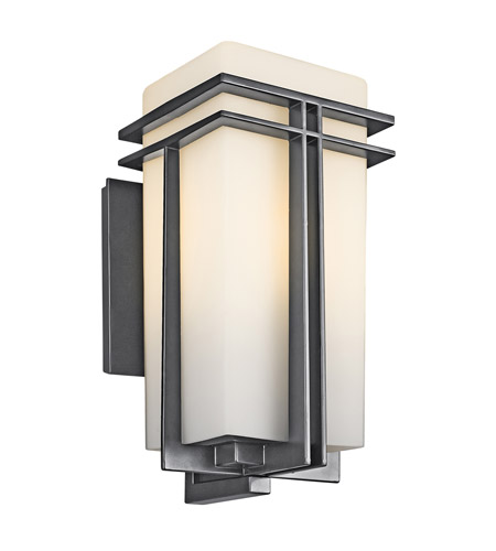 Kichler Lighting Tremillo 1 Light Outdoor Wall Lantern in Black 49202BK