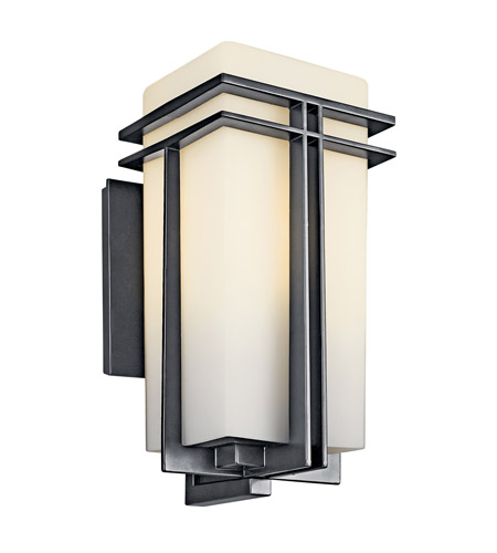 Kichler Lighting Tremillo 1 Light Fluorescent Outdoor Wall Lantern in Black 49202BKFL