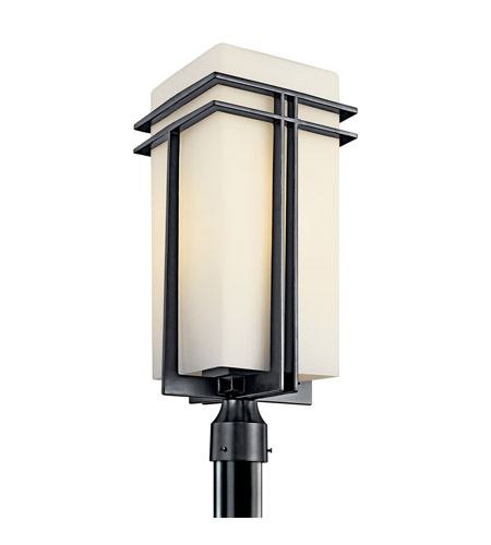 Kichler Lighting Tremillo 1 Light Fluorescent Outdoor Post in Black 49204BKFL photo