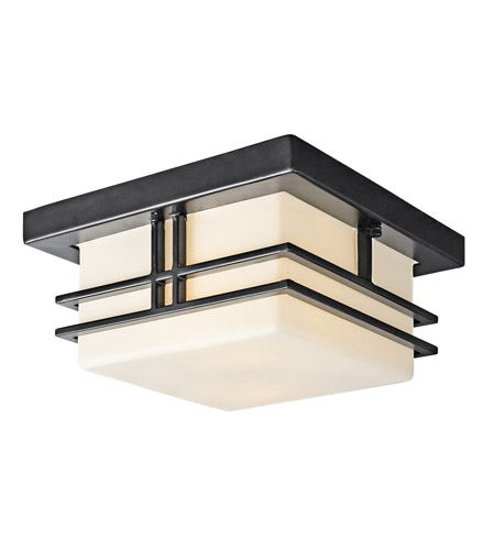 Kichler 49206BK Tremillo 2 Light 12 inch Black Outdoor Flush Mount in Standard photo