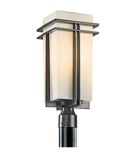 Kichler 49207BK Tremillo 1 Light 20 inch Black Outdoor Post Lantern in Standard photo