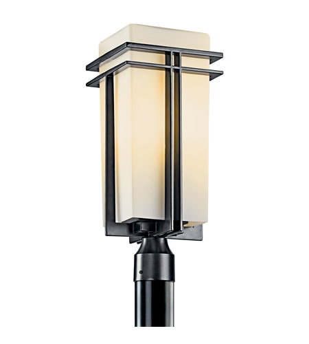 Kichler Lighting Tremillo 1 Light Fluorescent Outdoor Post in Black (Painted) 49207BKFL