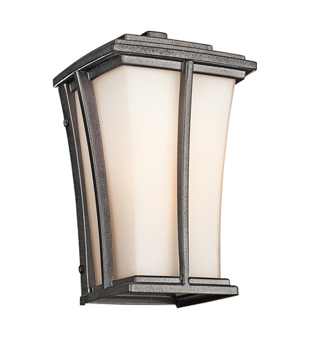 Kichler Lighting Brockton 1 Light Outdoor Wall Lantern in Anvil Iron 49214AVI photo