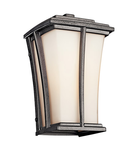 Kichler Lighting Brockton 1 Light Fluorescent Outdoor Wall Lantern in Anvil Iron 49214AVIFL