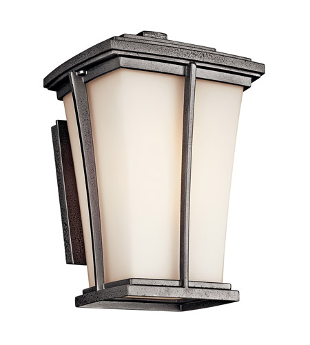 Kichler Lighting Brockton 1 Light Fluorescent Outdoor Wall Lantern in Anvil Iron 49215AVIFL