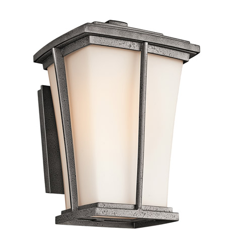 Kichler Lighting Brockton 1 Light Outdoor Wall Lantern in Anvil Iron 49216AVI photo