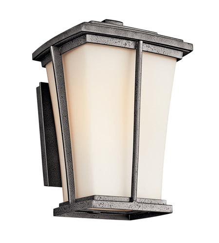 Kichler Lighting Brockton 1 Light Fluorescent Outdoor Wall Lantern in Anvil Iron 49216AVIFL