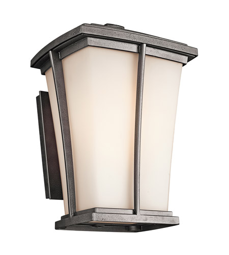 Kichler Lighting Brockton 1 Light Outdoor Wall Lantern in Anvil Iron 49217AVI